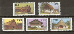 Allemagne Fédérale 1994 - Fermes Typiques - Série Complètes De 5 MNH - 1651/55 - Agriculture - Habitat - Briefmarken
