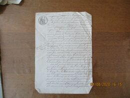 BANCIGNY ET LAMBERCY LE 1er AVRIL 1837 ECHANGE ENTRE LOUIS-JOSEPH MANESSE A BANCIGNY ET FREDERIC GUILLOUART A LAMBERCY - Manoscritti