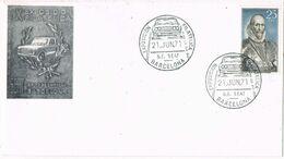 37281. Carta BARCELONA 1971. Exposicion Filatelica SEAT, Auto, Coche - 1931-Aujourd'hui: II. République - ....Juan Carlos I