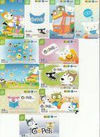 11 X Thailand Phonecard 12Call - GöPets Thai Comic Movie - Thaïlande