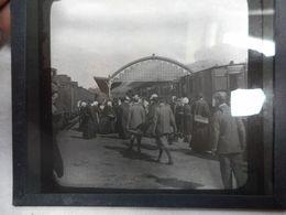 Lourdes La Gare Vers 1900 Plaque Photo - Photographie