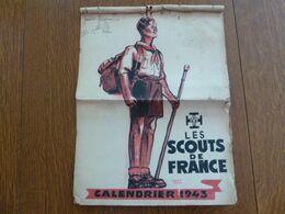 Scouts De France - Calendrier 1943 - Format 32*25 Cm - Complet Mais Mauvais Etat - Calendriers