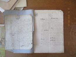 4 FEVRIER 1869 LAMBERCY DONATION A TITRE DE PARTAGE ANTICIPE PAR MME GUILLOUART-POINT A SES 2 ENFANTS JULME ET ZEPHIR - Manoscritti