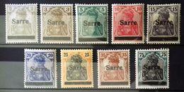 Sarre Neufs * * (MNH), Numéros : 1, 3, 4, 6, 7, 8, 9, 11, 15, Cote 40 Euros. - Unclassified