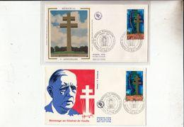 Lot De 10 Enveloppes Premier Jour Sur Le General De Gaulle - Unclassified