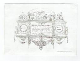 1 Carte Porcelaine C1845 Objets Argenteri CH. De Meuleneere Gand Litho Van De Steene Frères 16 X 13,5cm VG - Ansichtskarten