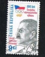 REP. CECA (CZECH REPUBLIC) - SG 234  - 1999 NATIONAL OLYMPIC COMMITTEE CENTENARY  -   USED - República Checa