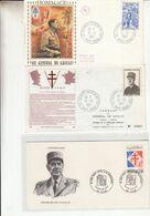 Lot De 9 Enveloppes Premier Jour Sur Le General De Gaulle Et Une Sur Le Concorde - Non Classificati