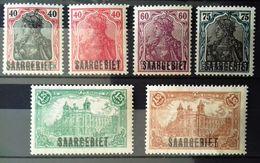 Sarre Neufs * * (MNH), Numéros : 41, 42, 44, 45, 46, 47, Cote 20 Euros. - Unclassified