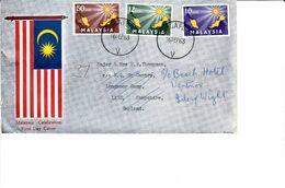 MALAYSIA 1963 CELEBRATION FDC COVER TO UK - Federation Of Malaya