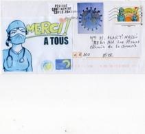 France,lettre Sur Coronavirus, Covid 19, Timbre Collector Et Vignettes. - Marcophilie (Lettres)