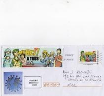 France,lettre Sur Coronavirus, Covid 19, Timbre Collector Et Vignettes. - Non Classés