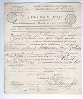 Document Département De L'Escaut Vente De Biens Nationaux 1809 Commune De ONKERZEELE (Abbaye De St Adrien) -- EE653 - 1794-1814 (French Period)