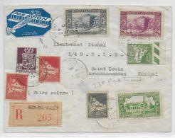 1943 - ETIQUETTE PIERREFONDS POSTE AERIENNE Sur ENVELOPPE RECOMMANDEE De SIDI-BEL-ABBES (ALGERIE) => SENEGAL ! - 1927-1959 Lettres & Documents