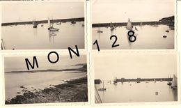 LE PORT DE GRANVILLE 1937 -  4 PHOTOS ANCIENNES 11x6,5 Cms - Lieux