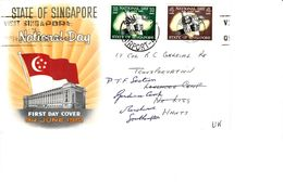 MALAYSIA 1961 NATIONAL DAY SET FDC COVER TO UK - Federation Of Malaya