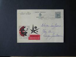 CP    ENTIER POSTAL  EXPOSITION DE BRUXELLES - 1958 - 1958 – Bruselas (Bélgica)