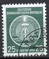 Allemagne Démocratique - Germany - Deutschland Service 1954 Y&T N°S10 - Michel N°D10 (o) - 25p Armoirie - Service