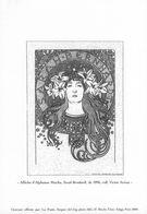 FRANCE   Epreuve    Gravure    Document De La Poste    AFFICHE D'ALPHONSE MUCHA   Sarah Bernhardt De 1896 - Frankrijk