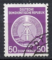 Allemagne Démocratique - Germany - Deutschland Service 1954 Y&T N°S14 - Michel N°D14 (o) - 50p Armoirie - Service