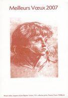 FRANCE   Epreuve    Gravure    Document De La Poste    MOSART Enfant       MEILLEURS VOEUX  2007 De La Poste - Frankrijk