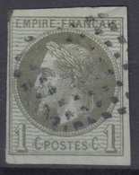 COLONIES GENERALES : EMPIRE 1c N° 7 OBLITERATION LOSANGE DE POINTS - COTE 90 € - Napoleon III