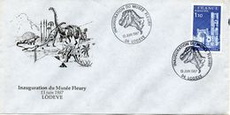 LODEVE (HERAULT) : PREHISTOIRE DINAUSORES Oblitération Temporaire 1987 INAGURATION DU MUSEE FLEURY - Vor- Und Frühgeschichte