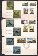 Rwanda 1965 OCBn° 98-107 (o) FDC Oblitéré Cote 24 € Faune Parc Kagera - Rwanda