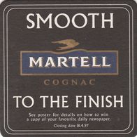 BEERMAT - MARTELL COGNAC (FRANCE) - SMOOTH MARTELL TO THE FINISH - (Cat No 040) - Bierviltjes