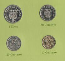 Ecuador 4 Monete Diverse 10 + 20 + 50 Centavos + 1 Sucre - Equateur