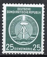 Allemagne Démocratique - Germany - Deutschland Service 1954 Y&T N°S10 - Michel N°D10 *** - 25p Armoirie - Service
