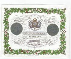 1 Carte Porcelaine Fabricant Serrurier Poëlier J.B. Somers, Rue Au Lin, Bruxelles, 1841 Lith. Daveluy Bruges, VG - Ansichtskarten