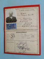 NEUFMANIL (Ardennes) -- Carte Identité De 1936 - Mr Onézime Camille Guérin Né Le 25-10-1873 - Maps