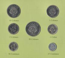 Costa Rica 7 Monete Diverse Centimos + Colones - Costa Rica