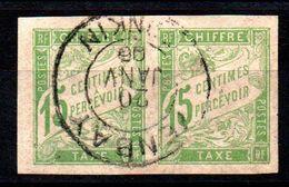 YT Taxe N° 22 - Paire Avec Cachet YENBAY - TONKIN - Postage Due