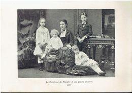 Photo Sur Papier Glacé:   LA COMTESSE DE FLANDRE ET SES QUATRE ENFANTS.  1879. - Photographie