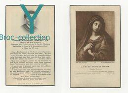 Saint-Martin-d'Auxigny, Mémento Marie-Thérèse Jacquet, 6/11/1946, Tertiaire De Saint François, Directrice école Libre - Images Religieuses