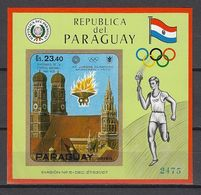 Olympia 1972:  Paraguay  Bl ** - Summer 1972: Munich