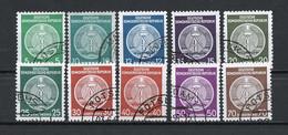 Allemagne Démocratique - Germany - Deutschland Service 1955 Y&T N°S18 à S27 Type 2 K13 - Michel N°D18I à D27I (o) - Service