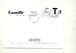 Enveloppe Reponse T Flamme Chiffrée Sous Code  Cachet Belcodene - Enteros Postales