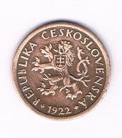 10 HALLER  1922  TSJECHOSLOWAKIJE /6175/ - Tchécoslovaquie