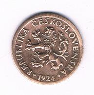 10 HALLER  1924  TSJECHOSLOWAKIJE /6177/ - Tchécoslovaquie