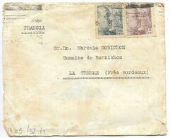 BARCELONA 1944, 2 Lettres Pour La Tresne Avec Censure...(défaut) - 1931-Aujourd'hui: II. République - ....Juan Carlos I