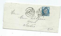 60C  Sur Lettre De Pontoise Pour Senlis 1874 - Sin Clasificación