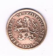 10 HALLER  1931  TSJECHOSLOWAKIJE /6180/ - Tchécoslovaquie