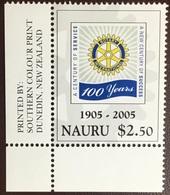 Nauru 2005 Rotary Anniversary MNH - Nauru