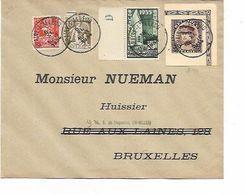 SH 0586. DECOUPURE EP KEPI 25 + 25c + TP 336-337-386 BRAINE-L' ALLEUD 5.XI.34 S/Lettre Vers Bruxelles - Storia Postale