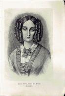 Photo Sur Papier Glacé:   LOUISE MARIE, REINE DES BELGES. 1812-1850. - Photographie