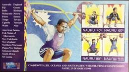 Nauru 1998 Weightlifting Championships Sheetlet MNH - Nauru