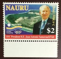 Nauru 1998 President Juan Antonio Sarancha Visit MNH - Nauru
